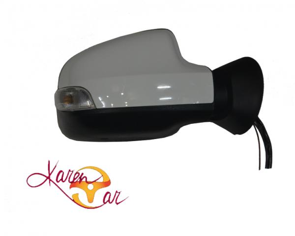 آینه بغل برقی با قاب رنگی سفید راهنمادار راست رنو داستر duster